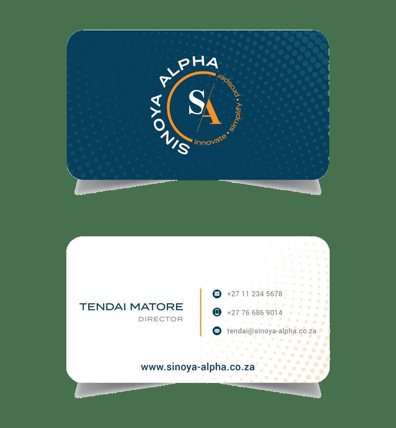 Sinoya Alpha Business Cards